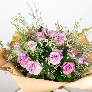 purple roses bouquet dubai by casa petals premium flower delivery dubai