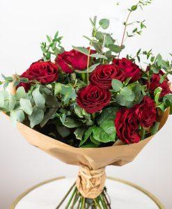 red roses bouquet by casa petals Dubai