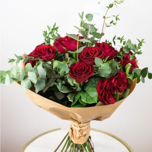 red roses bouquet by casa petals Dubai